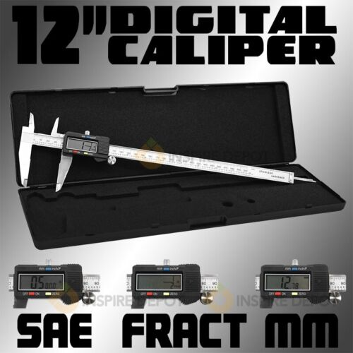 Digital Electronic Gauge Stainless Steel Vernier 300mm 12inch Caliper Micrometer