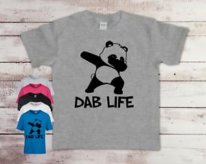 Funny Dab Life Panda Children's Kids Quality T-shirt Tee Birthday Top Gift Idea