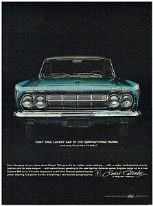 Image Is Loading Vintage 1964 Magazine Ad Mercury Comet True Luxury
