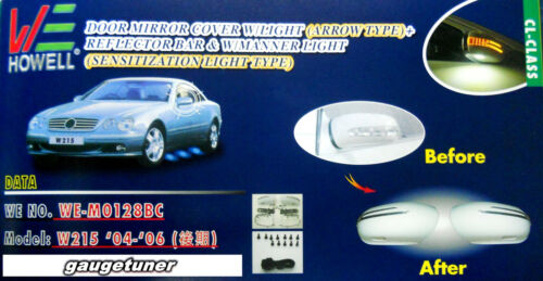 Mercedes W215 CL//350//500//600 AMG 2004-06 CUSTOM PAINTING LED Side Mirror Cover