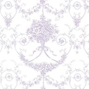 Cotton-100-Satin-weave-Fabric-Bedding-Antique-Dandy-Damask-Purple-44-034-width-BTY