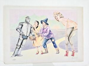 Rare-Robert-Anderson-Wizard-Of-Oz-Lithograph-1980-Signed-amp-Numbered
