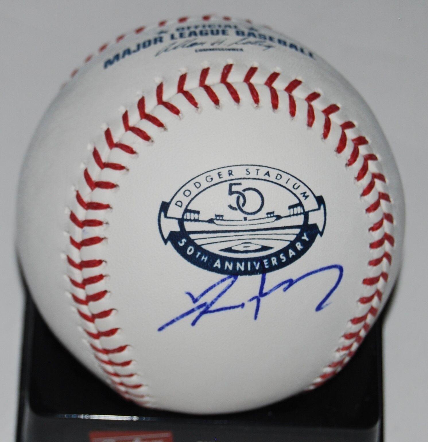 Adam Kennedy Firmado (los ángeles Dodgers Stadium) 50 Years OML Béisbol con