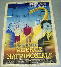 Affiche de cinéma : AGENCE MATRIMONIALE de JEAN-PAUL LE CHANOIS