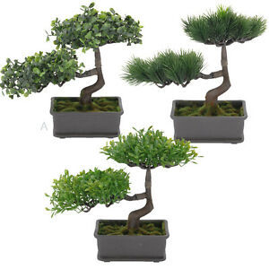 bonsai baum im topf kunstpflanze dekopflanze kunstbaum k nstlicher baum neu ebay. Black Bedroom Furniture Sets. Home Design Ideas