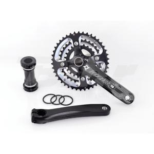 15405 Cgoldna e pedivella + movimento centrale bici 170mm 3x10 42 32 24T black