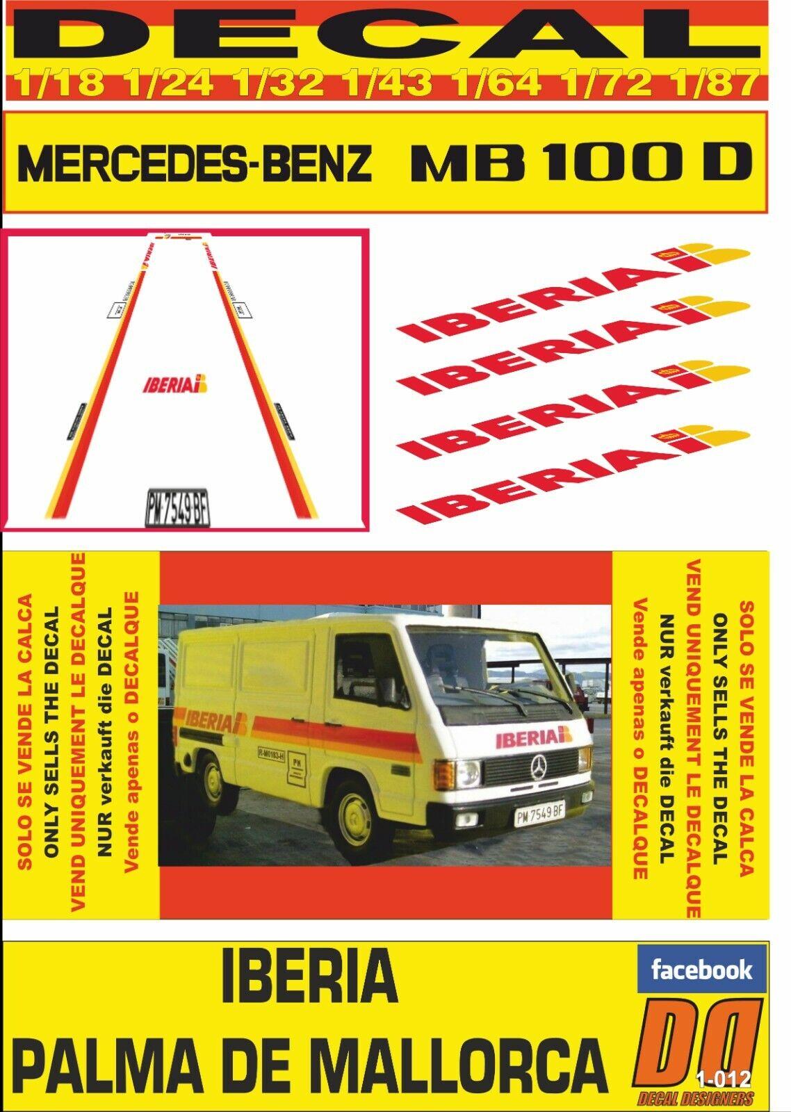 DECAL MERCEDES MB 100 D D D IBERIA PALMA DE MALLORCA (03) 083ad7