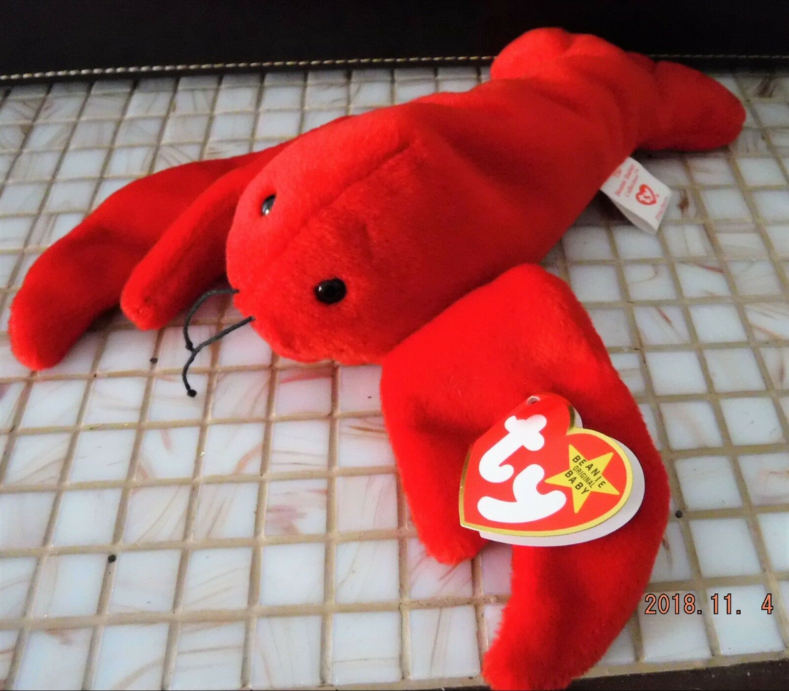 c4608cc1729 Ty the Beanie Baby Pinchers the Ty Lobster Retired 1993 PVC pellet Nurnberg  Mint bcb395