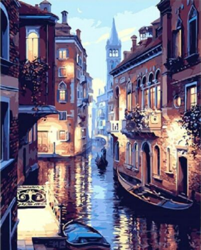 Venice At Night Landscape Paint By Number Kit DIY Painting For Kids And Adults
