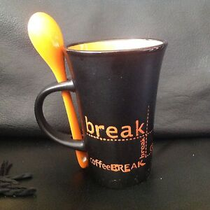Details Stoneware Ceramic Spoon Break Handmade Tea Mug Cup About Coffee W EH92DI