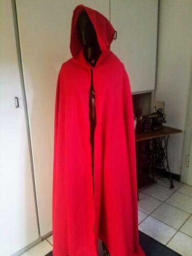 0636acf9c1588f 2 von 3 Rotkäppchen Umhang mit spitzer Kapuze rot Cape Fasching Karneval  Kostüm