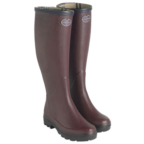 Cherry All Sizes Le Chameau Giverny Jersey Lined Unisex Boots Wellington