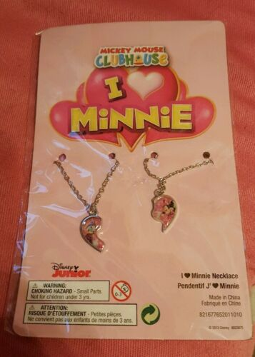 Mickey mouse clubhouse I love minnie necklace