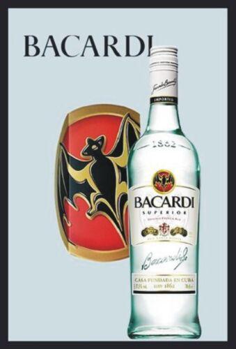 Nostalgie 20 x 30 cm Retro Barspiegel 18440 Bacardi Fledermaus Werbung