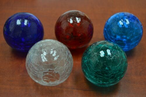 """6 PCS REPRODUCTION COLOR GLASS BALL WITH HOLE 3/"""" *PICK YOUR COLORS* #F-453CZ"""