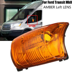 Door Wing Mirror Indicator Lens Right Driver Side For Ford Transit Mk8 Amber