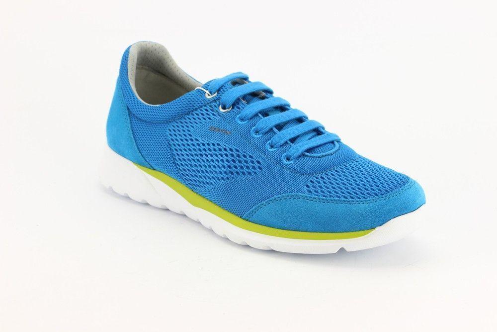 Geox Herren Schuhe Damian Gr.44 US11 UK10 Sportlicher Sneaker Textil Wildleder 4