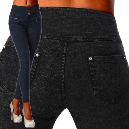 Sexy Skinny Taille Marine Pour E Noir Pantalon Haute Femmes Élastique Slim Bleu rqXrxw106z