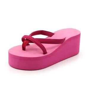 estate donne con zeppa perizoma infradito sandali da Spiaggia PANTOFOLE SCARPE