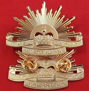 VIETNAM-IRAQ-AFGHANISTAN-WAR-AUSTRALIAN-ARMY-RISING-SUN-UNIFORM-CAP-BADGE