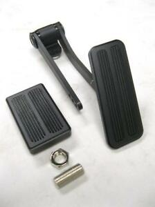 Black Street Rod Hot Rod Throttle Gas Pedal W Brake Pad