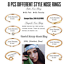 32Pcs-20G-Surgical-Steel-Nose-Rings-Hoop-Tragus-Cartilage-Helix-Ring-Piercing thumbnail 3