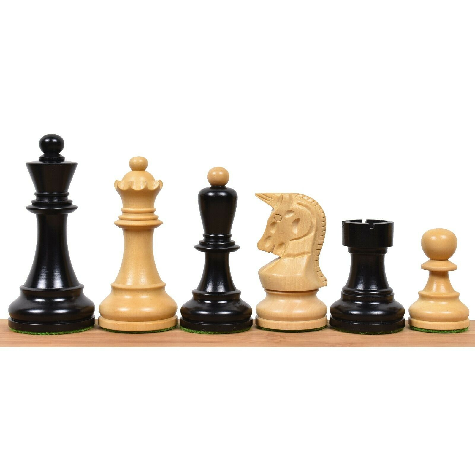 1950 Reproduced Bobby Fischer 3.7  Dubrovnik Chess Pieces Set in Ebonised Wood