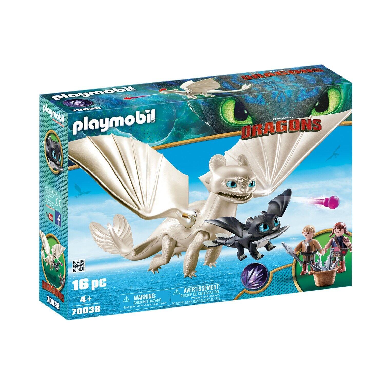 PLAYMOBIL 70038 - Dragons - Light Fury mit Babydrachen und Kindern