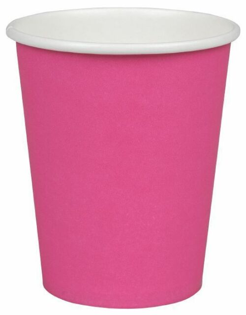 Coffee to go Becher Kaffeebecher 200ml Pappbecher Pink Bunte Trinkbecher Einweg