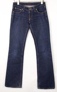 Nudie Jean Hommes Bootleg Eddy Droit Jambe Slim Jeans Extensible Taille W29 L32