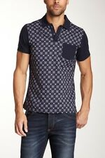 Desigual Printed Panel Polo, size L
