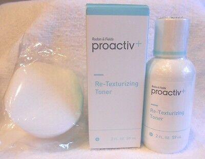 Proactiv+ Re-Texturizing Toner 2oz + 30 Pads ~ Retexturizing Proactive Plus
