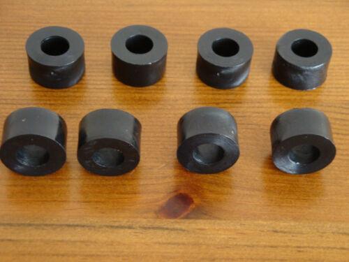 8 Black Plastic Nylon M8 Spacers 18mm O//D 8.2mm I//D x 10mm Long