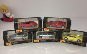 Lote-de-5-edicion-especial-de-Maisto-Porsche-Ferrari-Lamborghini-Jaguar-nuevo-En-Caja