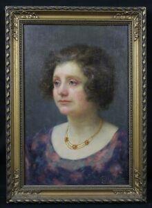 Charles-Morance-1872-1935-Portraet-von-Frau-Boulogne-Sur-Seine-Sarthe-Museum