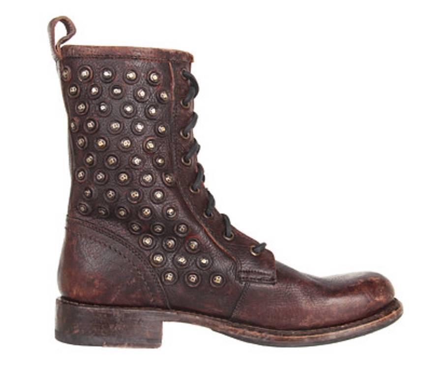 servizio premuroso Donna  scarpe FRYE FRYE FRYE JENNA DISC LACE stivali Lace up Washed Leather Dark Marrone Studs  vendita con alto sconto