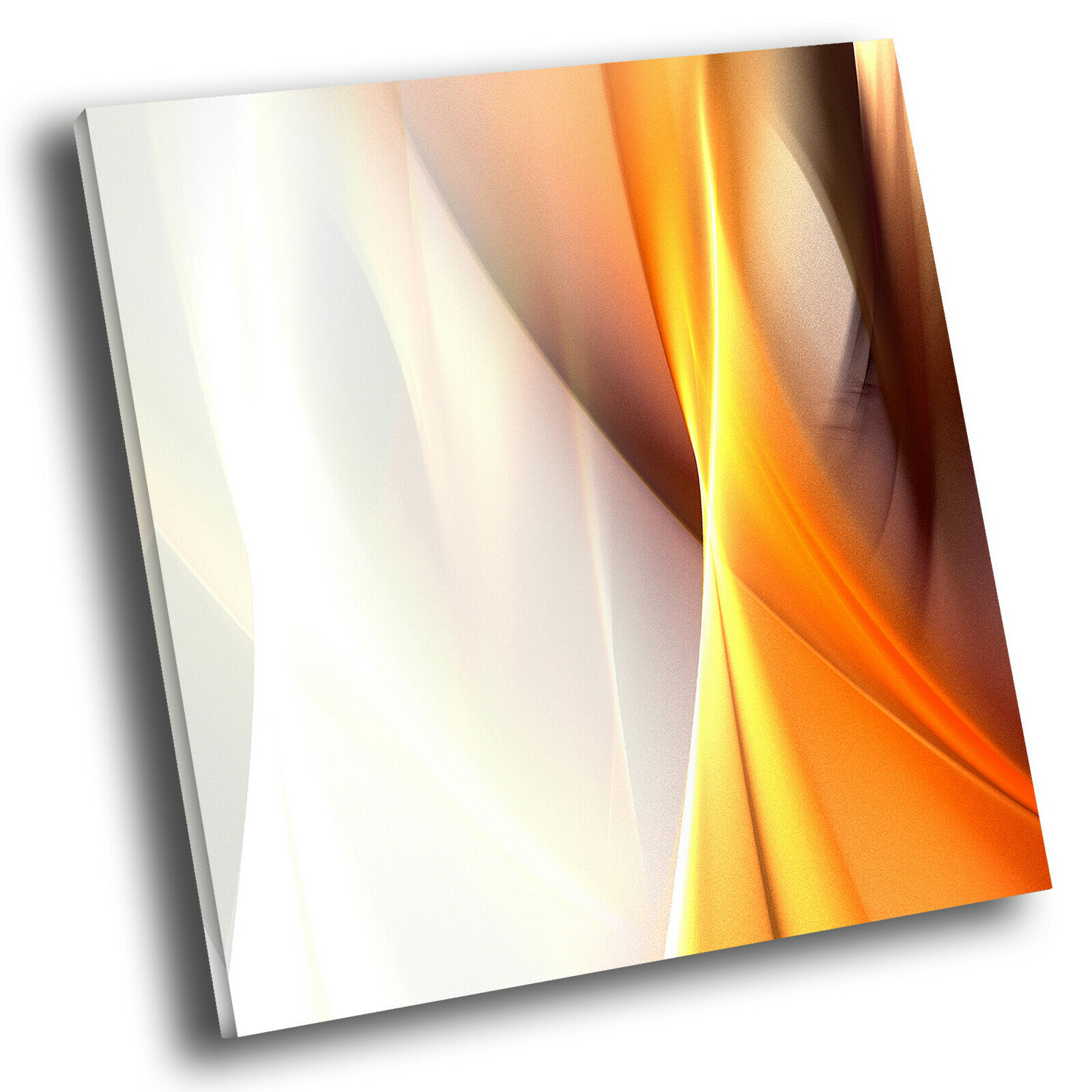 Gelb Orange grau Wave Square Abstract Canvas Wall Art Large Picture Prints