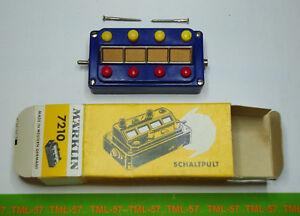 Contacteur-MARKLIN-Boitier-Pupitre-Commande-Eclairage-Signaux-ref-7210-TBE-BO