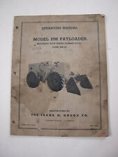 Ih International Hough Hm Front End Wheel Pay Loader Tractor Operators Manual