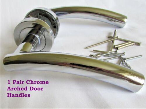 1-15 Sets arqué Chrome Intérieur Porte Poignées rond rose livraison gratuite D18