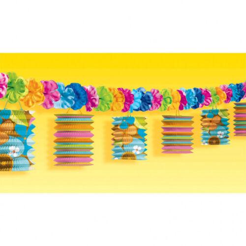 Laternen Girlande Hawaii 365 cm Sommer Party Raum Deko Dekoration Themenparty