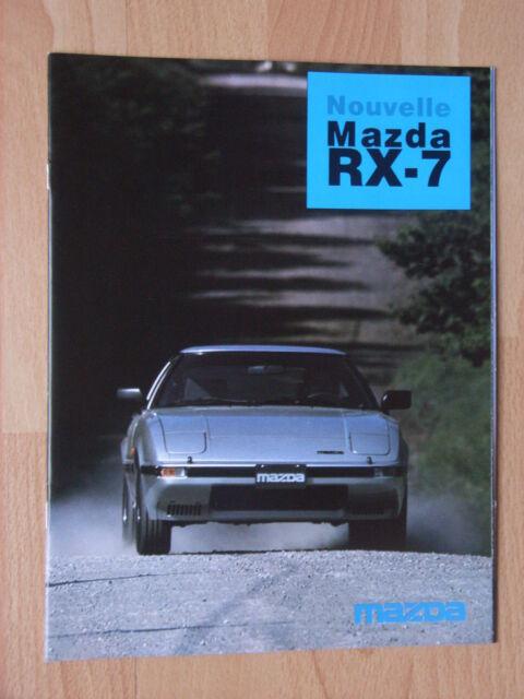 Mazda RX-7 (Serie FB2) Prospekt / Brochure / Depliant, French, F, 4.1984