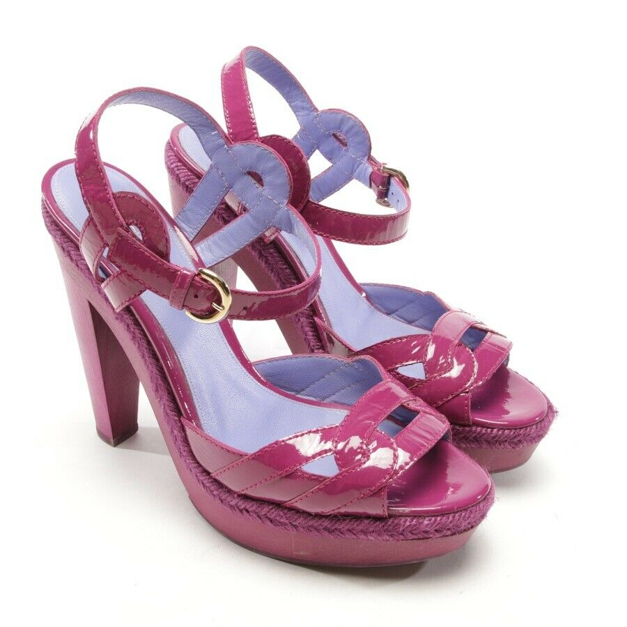 Serfio Rossi Court shoes Size D 39 Purple Women's High Heels Leather shoes