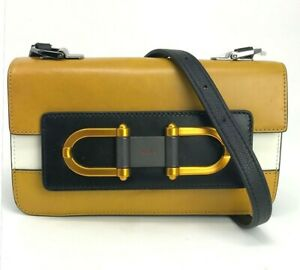 New-w-reticket-tag-400-FURLA-Crossbody-Bag-Mustard-Yellow-White-Black