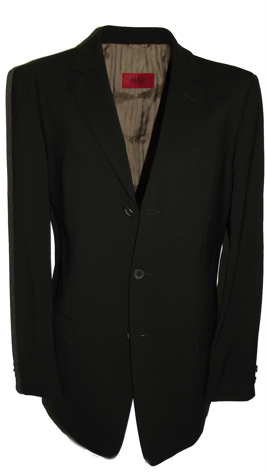 HUGO BOSS Luxus Anzug Gr. 50 Albo Hago Dunkelbrown Regular-Fit brown NP