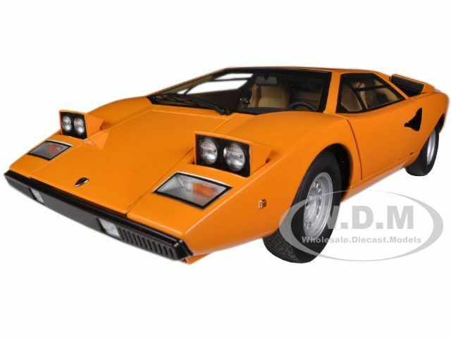 Lamborghini Countach Lp400 Orange 1 18 Diecast Car Model By Autoart