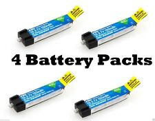 E-Flite 150mah 1s 3.7v 45c Lipo 4 Pcs Battery Blade MSRX PARKZONE Nao CPX