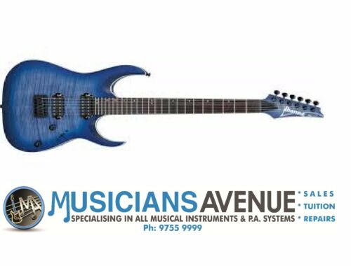 1 of 1 - IBANEZ RGA42FM Flame Maple Electric Guitar - Blue Lagoon Burst Finish