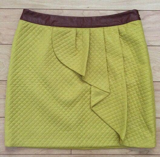 HD in Paris Lemon Petal Skirt Size 4, 8, 10, 10P, 12 Yellow NW ANTHROPOLOGIE Tag