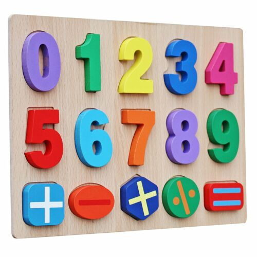 Timy Numbers Wooden Puzzle Board for Toddlers Educational Early Learning Toys
